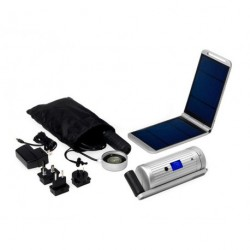 Powertraveller Powermonkey Expedition Hand Crank Silver Full Kit