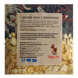 Гороховая каша с говядиной Happy Elk