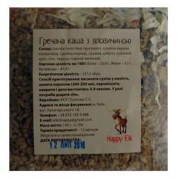 Каша гречневая с говядиной Happy Elk