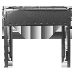 Мангал портативный на 10 шампуров Силумин