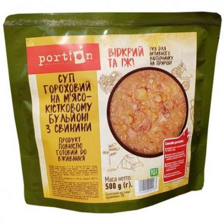 Суп гороховый с мясом свинины Portion