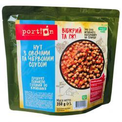 Нут с с овощами и красным соусом Portion