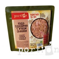 Каша пшеничная с мясом свинины Portion