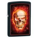 Зажигалка Zippo Burning Skull Black Matte 28307